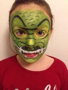 kinderschminken vir gesicht krokodil krokodil schmink cool dino schminken