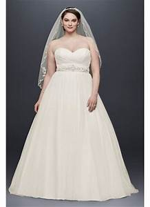 plus size strapless sweetheart tulle wedding dress david With david s bridal simple wedding dresses