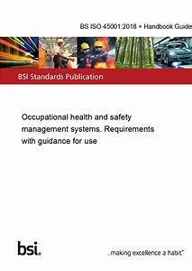 Bs Iso 45001 2018   Handbook Guide Kit Occupational Health