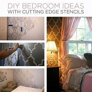diy bedroom ideas with cutting edge stencils stencil With diy decorations for your bedroom