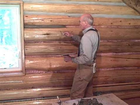 martin cabin    chinking log walls youtube