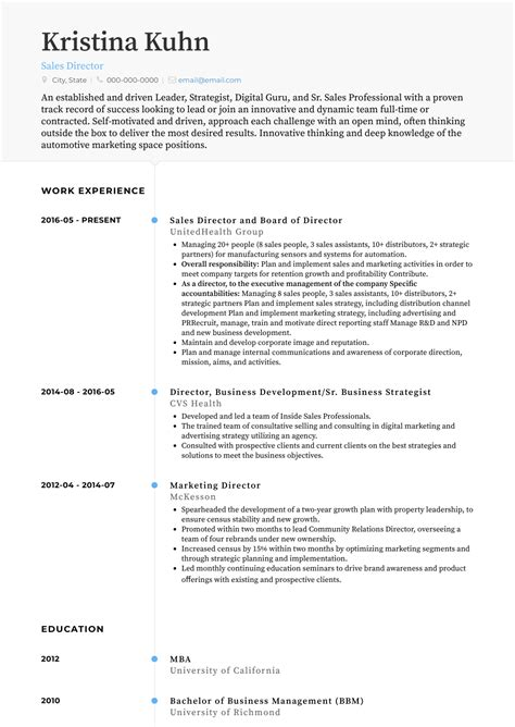 sales resume samples  templates visualcv