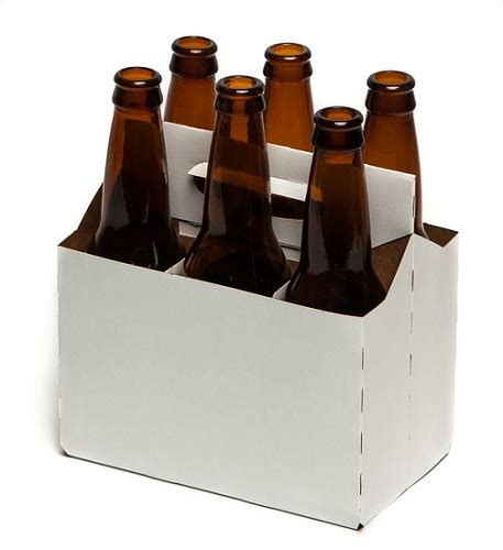 white  pack beer carrier