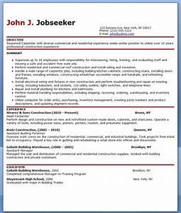 free carpenter resume templates resume downloads With carpenter resume template