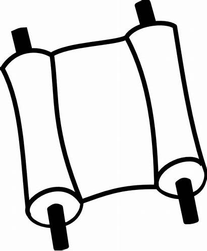 Scroll Torah Bible Coloring Clipart Scrolls Chrismon