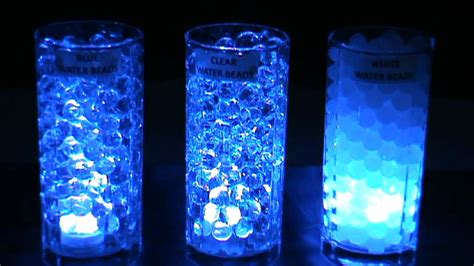 led submersible lights blue blyss water beads youtube