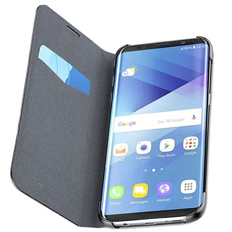 galaxy s8 flip cover cellularline samsung galaxy s8 flip cover sort