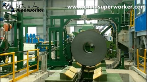 automatic steel coil banding machine youtube