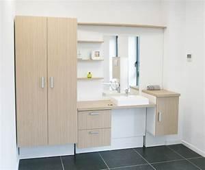 salle de bain a mobilier adapte modulhome With mobilier salle bain