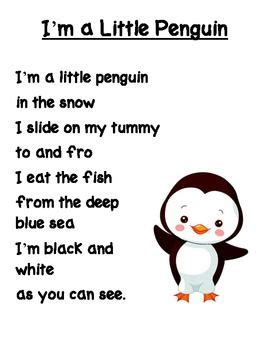 i m a penguin poem pre school ideas penguin 241 | f7121309816ba7c287ad634b96804b65