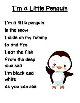 preschool penguin songs i m a penguin poem pre school ideas 195