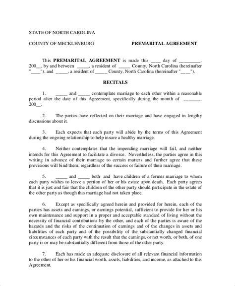 6 Prenuptial Agreement Sles Free Sle Exle