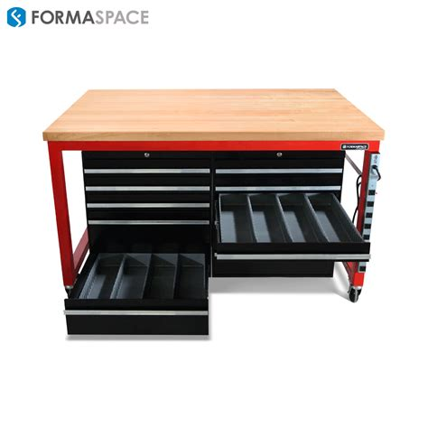 red mobile tool bench  tire supplier formaspace