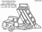 Dump Coloring Truck Pages Dumptruck Dumper Print sketch template