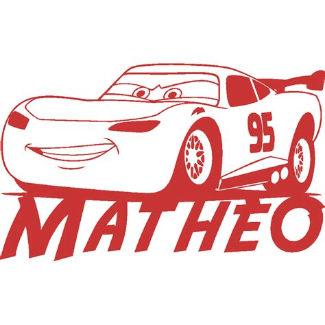 deco chambre cars stickers mathéo cars stick