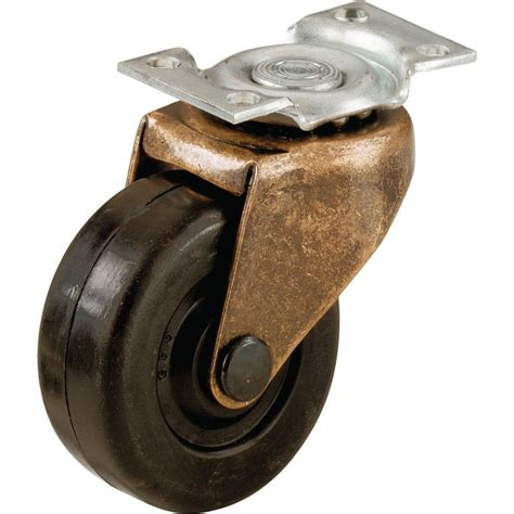 shepherd 2 in soft rubber swivel plate casters with 80 lb