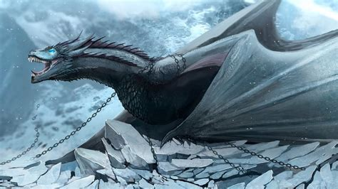 Song Of Ice And Fire Wallpaper Everything About Ice Dragons In Game Of Thrones