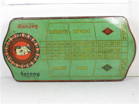 roulette table for sale old shop stuff old tin for sarony cigarettes shaped as a