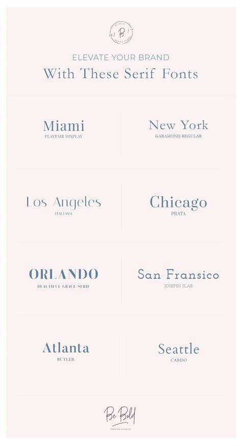 elevate  brand   serif fonts  images