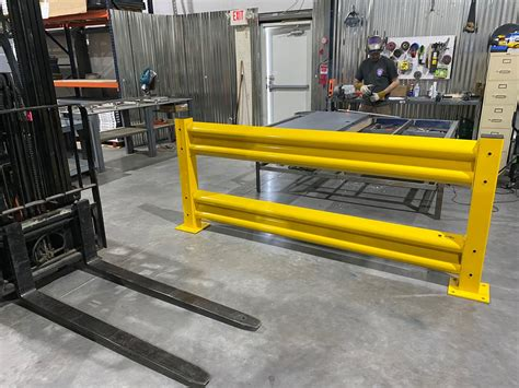 warehouse safety guard rail barriers