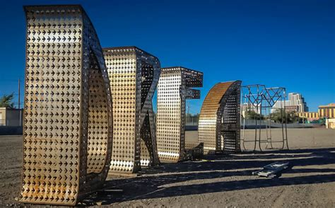 city of fort worth garage permit larger than sculpture unveiled in arlington tx