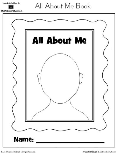 All About Me Printable Book  A To Z Teacher Stuff Printable Pages And Worksheets