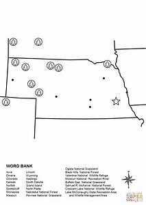 Nebraska Map Worksheet Coloring Page Free Printable
