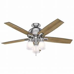 Hunter brushed nickel quot indoor ceiling fan