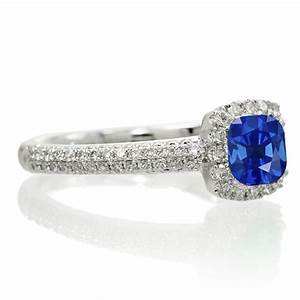2 carat vintage halo sapphire and diamond engagement ring With 2 carat diamond wedding ring