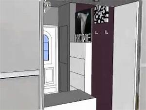 relooking deco entree realise avec sketchup youtube With comment meubler une entree