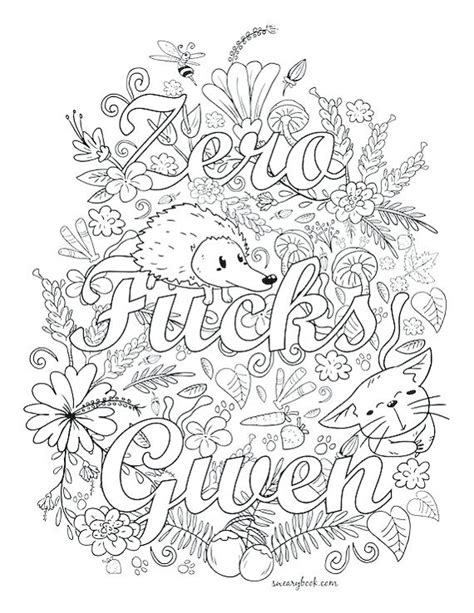 Swear Word Coloring Pages Kitchen Swear Word Coloring Pages Printable Free