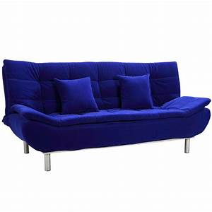 Blue sofa beds blue sofa bed images and photos objects for Blue futon sofa bed
