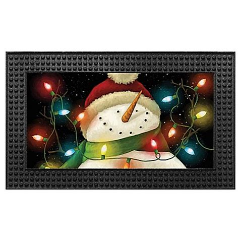 Led Doormat by Light Up 18 Inch X 30 Inch Led Snowman Door Mat Bed Bath