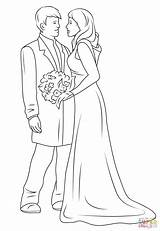 Coloring Couple Printable Drawing Happy Weddings Sheets Couples Anime Drawings Sketch sketch template