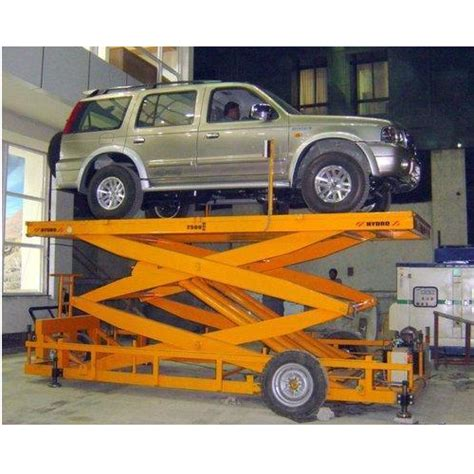 Hydro Stainless Steel Hydro Mobile Scissor Type Car Lift