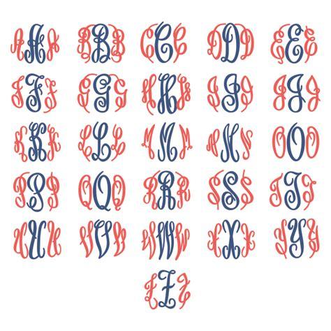 circle curlz monogram svg cuttable fonts