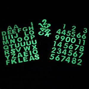 1 sheet glow in the dark numbers stickers luminous letters With glow in the dark letters stickers