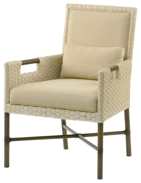 pheasant woven leather dining arm chair wl 414