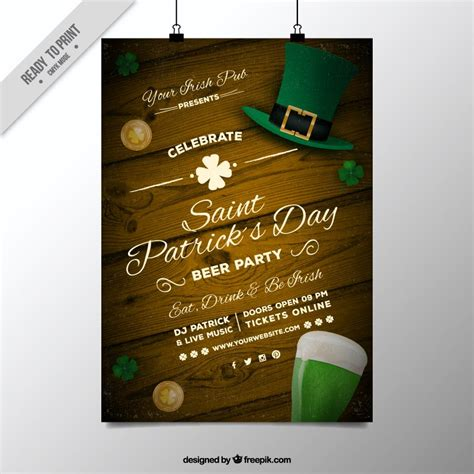 Day Poster Template freebie 5 free flyer poster templates for st s day