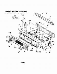 Kenmore 91199009992 Electric Range Parts