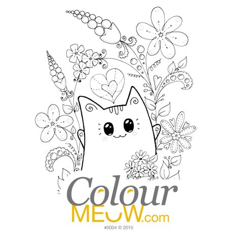 colour meow cat colouring pages cat drawings