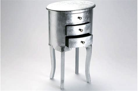 table de chevet argente table de chevet baroque pas cher
