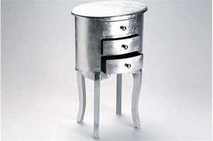 Tables De Chevet Pas Cher : table de chevet baroque en argent gery tables de chevets pas cher ~ Voncanada.com Idées de Décoration