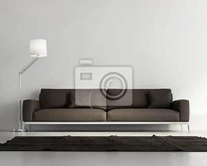 papier peint elegant salon contemporain canape en cuir With tapis de gym avec teindre canapé cuir professionnel