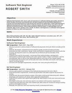 Test Engineer Resume Samples