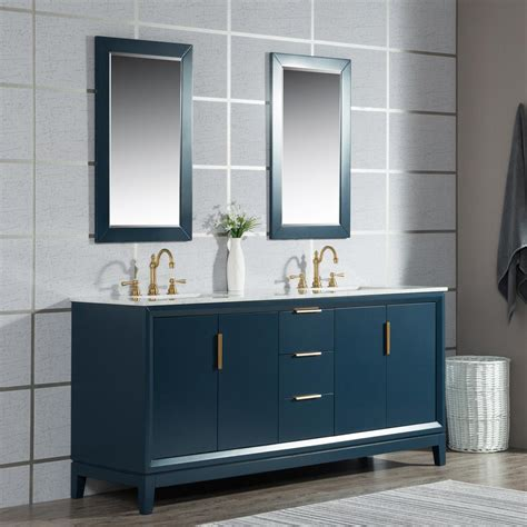 blue vanity top water creation elizabeth 72 in monarch blue with carrara