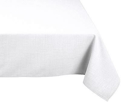 nappe rectangle polyester 180x300 blanche noel