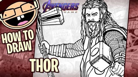 How Draw Thor Avengers Endgame Narrated Easy Step