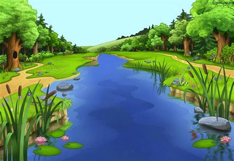 Download S Wallpaper Hd Of Cartoon Countryside Widescreen
