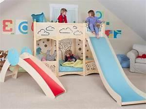 Kinder Mädchen Bett : hochbett mit rutsche spa im kinderzimmer ~ Whattoseeinmadrid.com Haus und Dekorationen